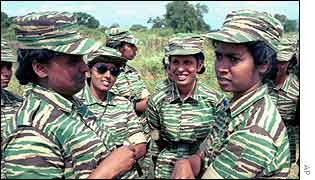 Female Tamil Tiger fighters