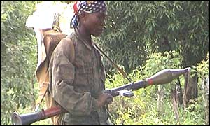Liberian soldier