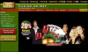 Casino Net home page