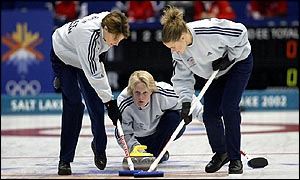 The Great Britain team in action during the final