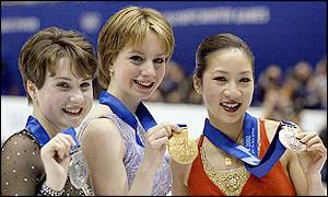 Sixteen year old Sarah Hughes stunned the skating world in taking gold