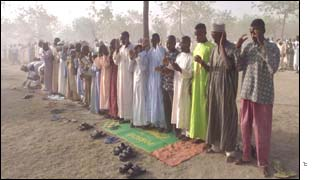 Muslims form the majority of the population in Nigeria's northern half
