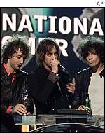The Strokes at The Brits 2002