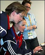 Janice Rankin and Fiona MacDonald read your congratulations messages on the BBC Sport Online Winter Olympics site