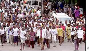 Mugabe supporters march