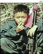Young guerrilla on Burma's border highlands