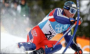Alain Baxter in action during the slalom