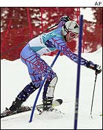 Bode Miller has to climb back up the course