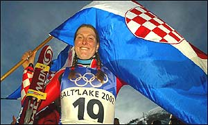Janica Kostelic won four medals for Croatia