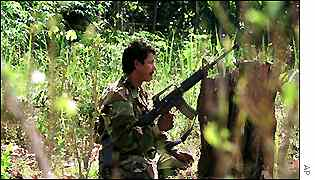 A FARC rebel soldier
