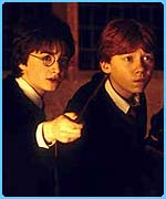 Harry and Ron in a picture from the second film