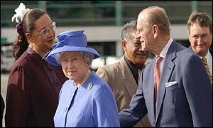 The Queen and Prince Philip meet Moari transsexual MP for Wairarapa Georgina Beyer
