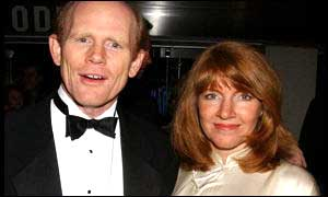 Director Ron Howard and wife Cheryl hope for a beautiful night for A Beautiful Mind