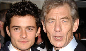 Orlando Bloom and Sir Ian McKellen