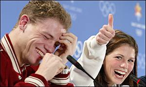Canadian skating duo David Pelletier and Jamie Sale