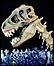 Huge dinosaur models formed part of a spectacular ceremony