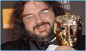 Lord of the Rings director Peter Jackson with a Bafta