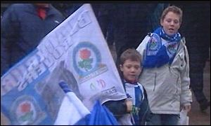 Blackburn fans at Worthington Cup Final