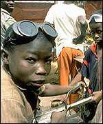 Children working in Africa