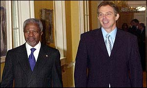 Kofi Annan and Tony Blair