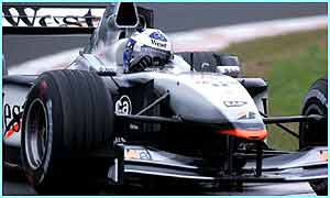 McLaren driver Britain's David Coulthard in a practice session at the Spa-Francorchamps