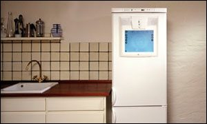 Frigidaire concept refrigerator with integrated PC, Frigidaire