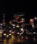 The gambling strip in Las Vegas, Nevada