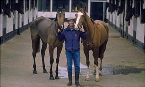 Trainer Martin Pipe at his Nicholashayne stables in Wellington, Somerset