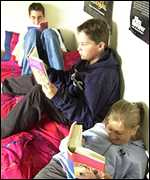 Teenagers reading