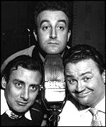 Spike Milligan (left), Peter Sellers and Harry Secombe