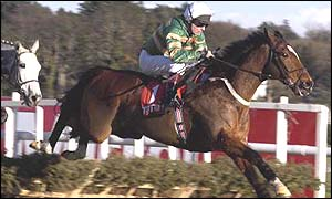 Charlie Swan in action on Istabraq at the end of last year