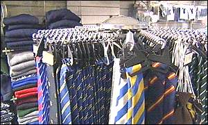 school ties in a shop