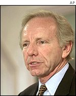 Connecticut Democrat Joseph Lieberman