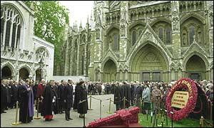 Remembrance service at Westminster Abbey