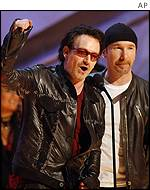 U2's prizes included record of the year
