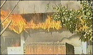 Property burns in Ahmedabad