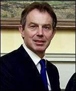 The British Prime Minister, Tony Blair.