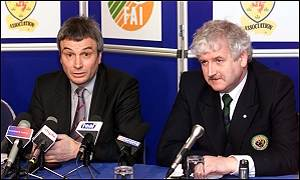 SFA chief executive David Taylor and FAI president Milo Corcoran