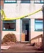 House in Old Colwyn, where a man was hit by a plastic bullet