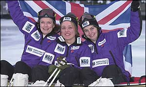 Team members (l-r) Pom Oliver, Ann Daniels and Caroline Hamilton