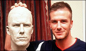 David Beckham and his waxwork image