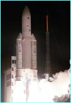 Nightfall and Ariane blasts off