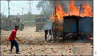 Rioting in Ahmedabad