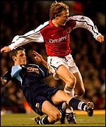 Ray Parlour in action against Derby