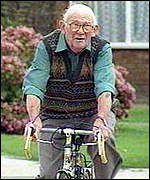 [ image: Mr Paul: 88 and still cycling]