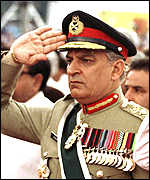 [ image: General Karamat: resigned under pressure]