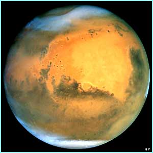 The red planet of Mars