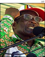 President Robert Mugabe at election rally in Mount Darwin last week
