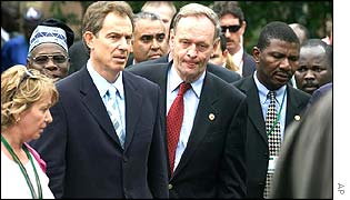 Tony Blair and other Commonwealth leaders in Queensland