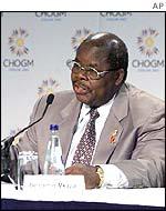 Tanzania's President Benjamin Mkapa